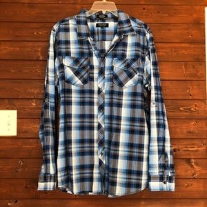 Eighty Eight Plaid Button Down Shirt Long Sleeve